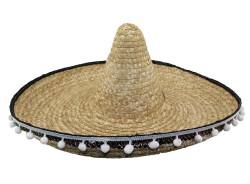 Шляпа Сомбреро солома 52 см с кисточками