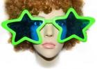 Очки гигант Звезды зеленые