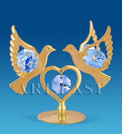 Фигурка  Сердечко с голубями