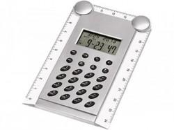 Калькулятор с часами, датой и складной линейкой