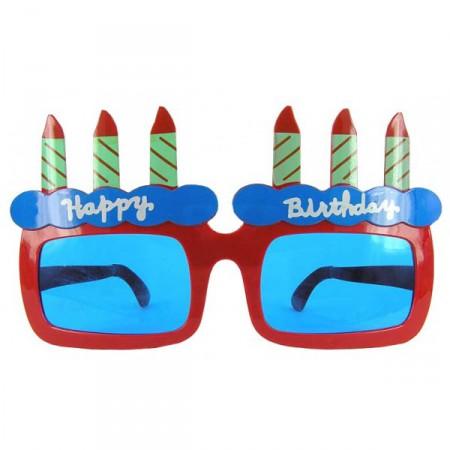 Очки Гигант Happy Birthday со свечами