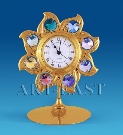 """Часы """"Солнце"""" 12см. с цв. кр."""