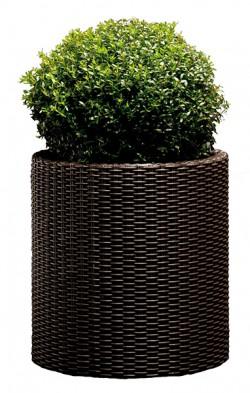 Горшок для цветов Cylinder Planter Large коричневый