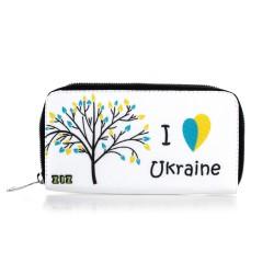 Кошелек тканевый I love Ukraine
