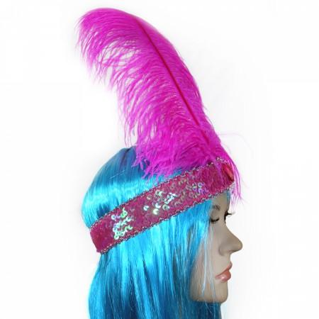 Повязка Гламур страусиное перо
