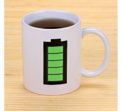 Чашка батарейка белая