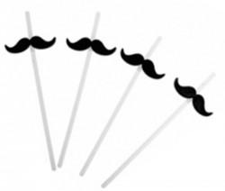 Трубочки для коктейлей с усами