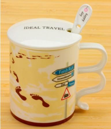 "Чашка Ideal travel ""The jorney footprint"""