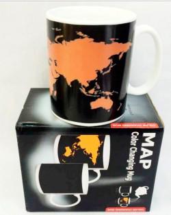 """Чашка """"Карта мира"""" хамелеон"""