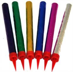 Свечи с искрами цветные