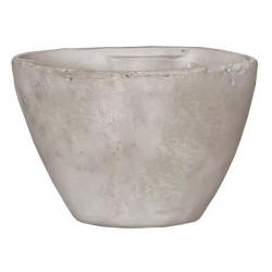 Горшок для цветов глиняный белый