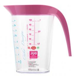 Мерный стакан 1 л, розовый