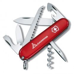 Нож Victorinox Swiss Army Camper, красный с лого