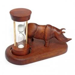 Песочные часы со скульптурой Носорог