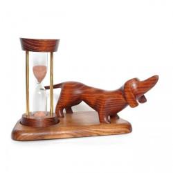 Песочные часы со скульптурой Такса