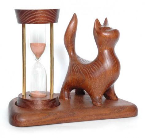 Песочные часы со скульптурой Кот стоящий