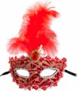 Венецианская маска Патриция красная