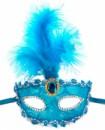 Венецианская маска Патриция голубая