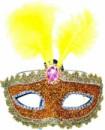 Венецианская маска Патриция желтая