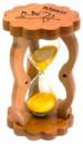 Песочные часы  в бамбуке желтые