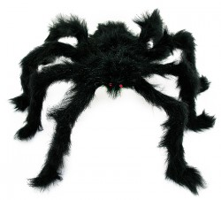 Паук из меха большой черный 60 см