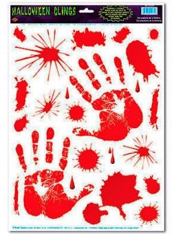 Наклейки кровавые Руки