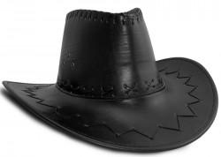 Шляпа ковбойская кожа (черная)