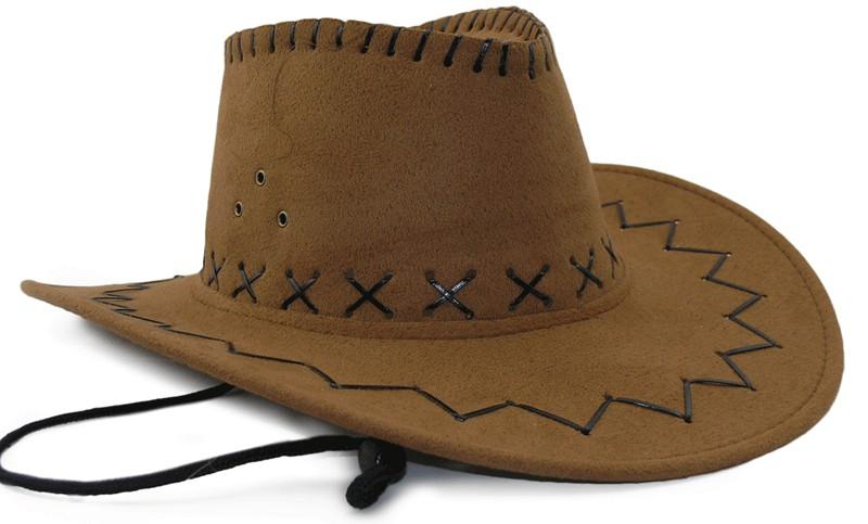 Шляпа ковбоя замша коричневая