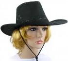 Шляпа ковбойская замша (черная)