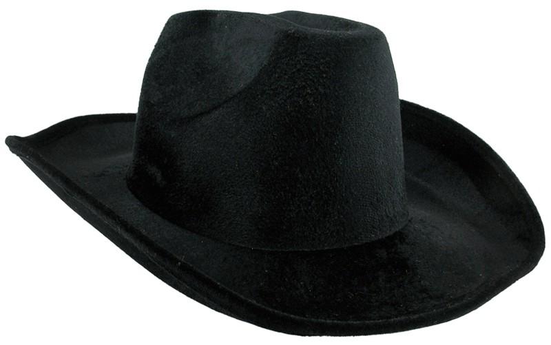 Шляпа ковбойская велюровая