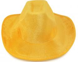 Шляпа ковбойская велюровая (желтая)
