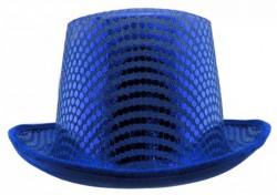 Шляпа Цилиндр блестящая (синяя)