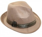 Шляпа Федора (бежевая)
