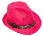 Шляпа Федора (малиновая)