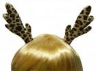 Заколки рожки Оленёнка леопардовые