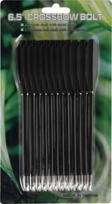 Стрелы для арбалета Man Kung MK-PL-BK, черные, 12 шт