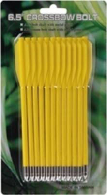 Стрелы для арбалета Man Kung MK-PL-Y, желтый, 12 шт