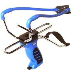 Рогатка с упором, прицелом и магазином Man Kung SL06BL, синяя