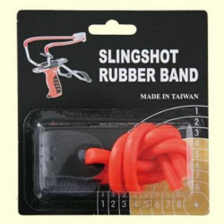 Резинка для рогатки Man Kung MK-TR-O, оранжевая