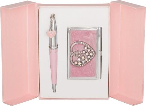 Подарочный набор Crystal Heart розовый