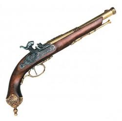 Пистоль итальянский кремниевый, Брешиа, 1825г, латунь