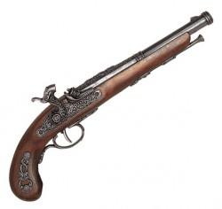 Пистоль французский кремниевый, 1872г, латунь