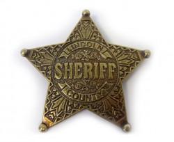 Значок шерифа США, пятиконечный