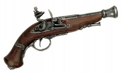 Бельгийский короткий пистоль, XVIII век, Denix 1057G, сталь