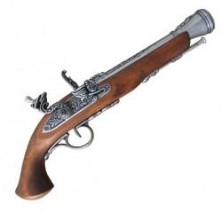 Пистолет кремниевый, системы флинтлок, XVIII  век, никель