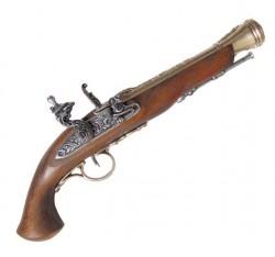 Кремниевый пистолет системы флинтлок, XVIII  век, латунь