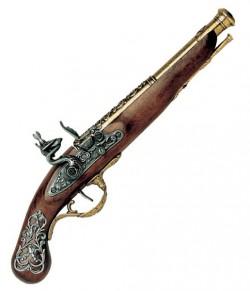 Пистоль кремниевый английский, XVIII век