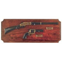 Мини-винчестер и револьвер на подставке, серый, Denix 2100G