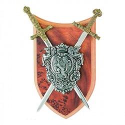 Панно мини-шпага Наполеона и мини-меч Карла Великого на щите