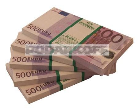 """Пачка """"500 €"""" (подарочная)"""